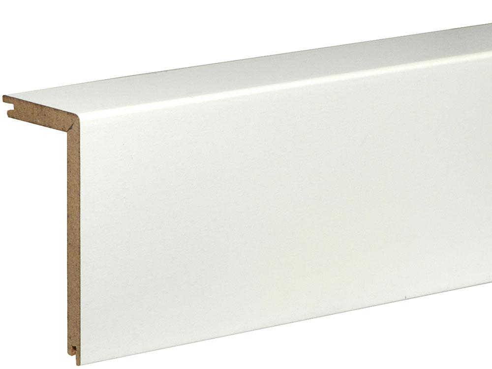 Rohrabdeckleiste FRA02 folienummantelt 41 x 91 mm Weiß FOFA015, 240 cm