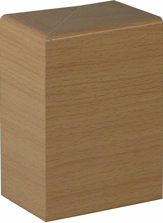 FRA002 Endstück, Links/Rechts - 2 Stk./Pkg. 41 x 91 mm, Weißbuche FOBU002