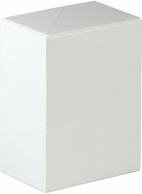 FRA002 Endstück, Links/Rechts - 2 Stk./Pkg. 41 x 91 mm, Weiß FOFA015