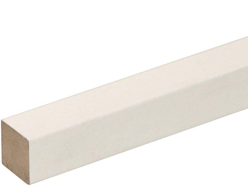Quadratleiste SF326OC/FU192OC foliert 14 x 14 mm Weiß FOFA015, 240 cm