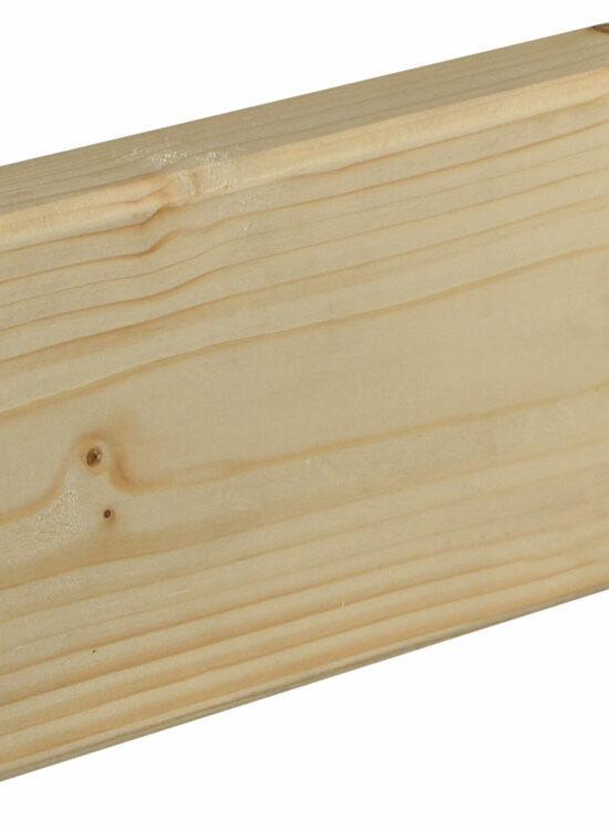 Rahmenholz gerundet 27 x 95 mm Fichte/Kiefer astig A roh, 240 cm