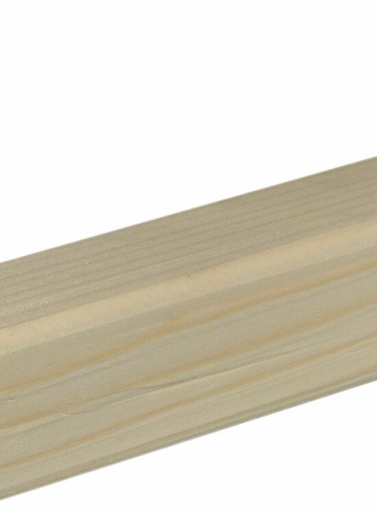 Rahmenholz gerundet 38 x 38 mm Fichte/Kiefer astig A roh, 240 cm