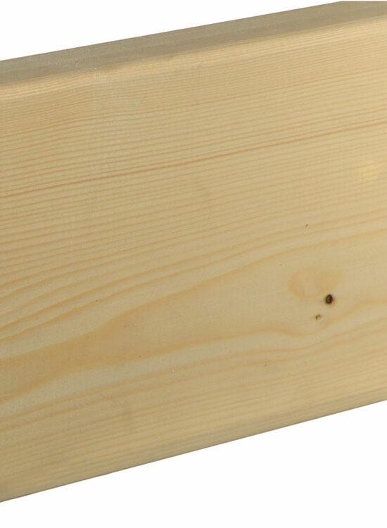 Rahmenholz gerundet 40 x 145 mm Fichte/Kiefer astig A roh, 240 cm