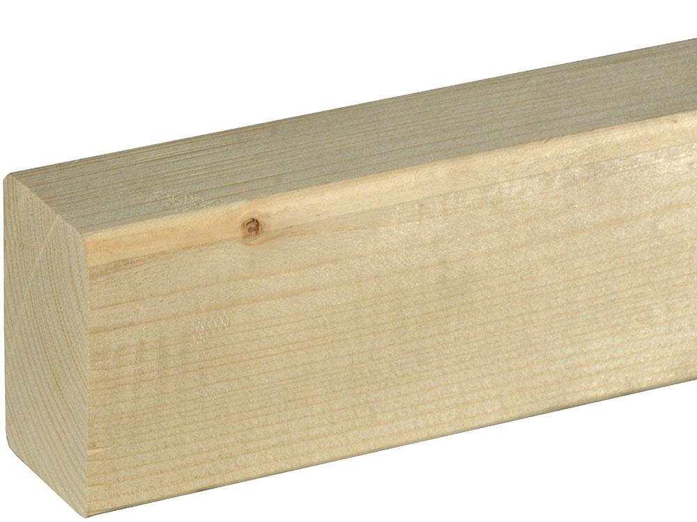 Rahmenholz gerundet 45 x 70 mm Fichte/Kiefer astig A roh, 240 cm