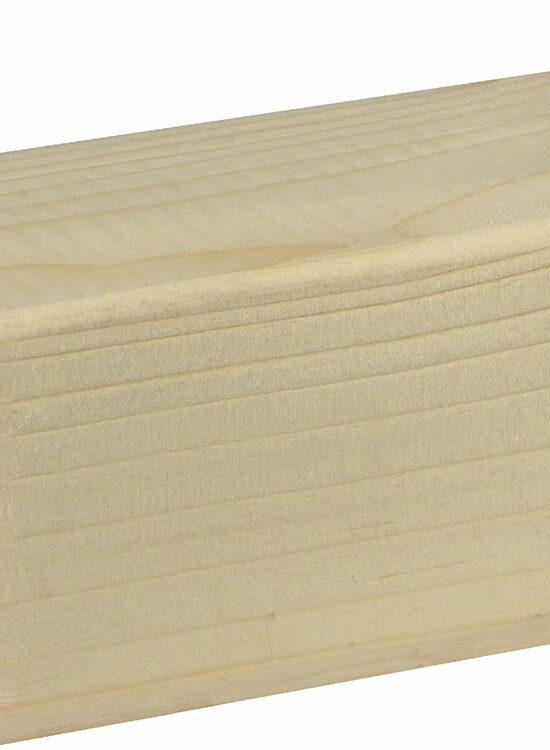 Rahmenholz gerundet 58 x 58 mm Fichte/Kiefer astig A roh, 240 cm