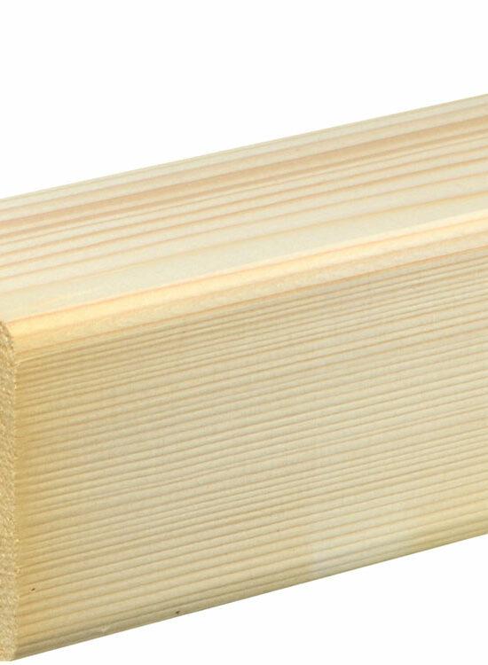 Rahmenholz gerundet 68 x 68 mm Fichte/Kiefer astig A roh, 240 cm