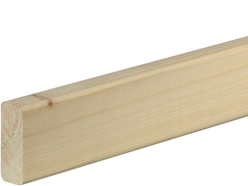 Rahmenholz gerundet 19 x 47 mm Fichte/Kiefer astig A roh, 240 cm