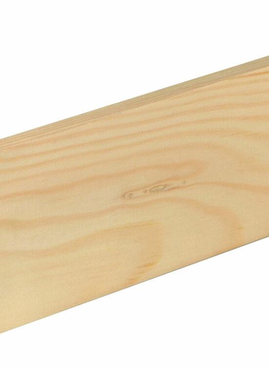 Flachleiste 10 x 70 mm Fichte/Kiefer astrein roh, 240 cm