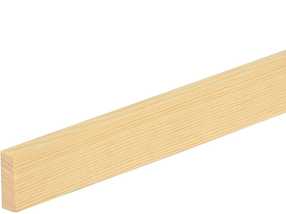 Flachleiste 10 x 29 mm Fichte/Kiefer astrein roh, 100 cm