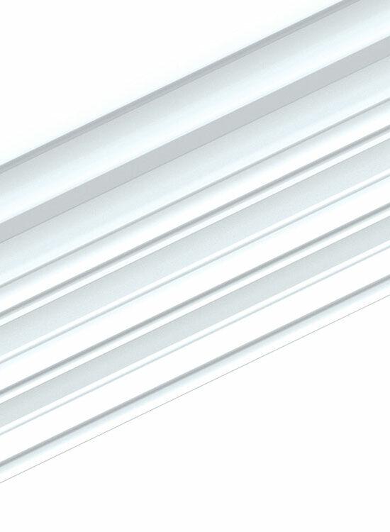 Clik-Fix 17 Montageschiene PVC weiß 19 x 81,5 mmm, 240 cm