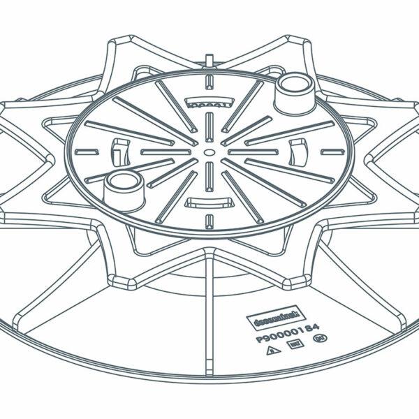 Twinson Höhenverstellbarer Drehfuß, 35 - 55 mm