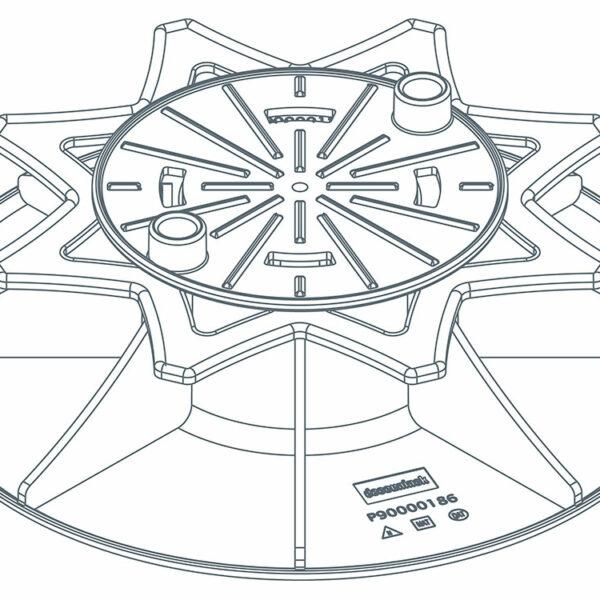 Twinson Höhenverstellbarer Drehfuß, 55 - 95 mm