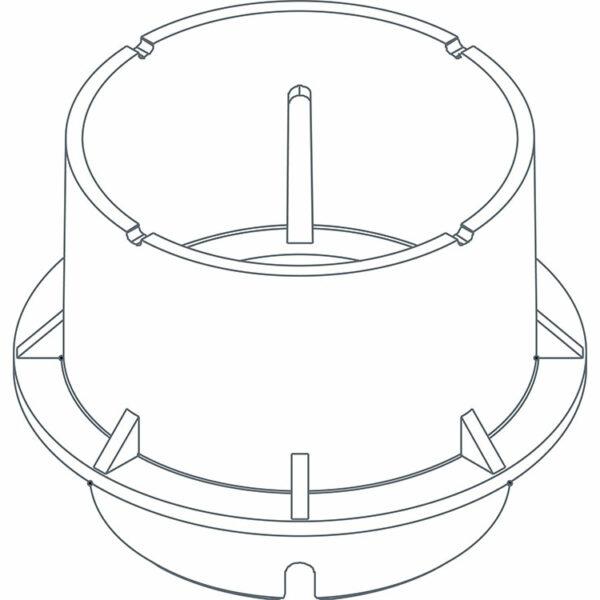 Twinson Adapter Drehfuß für Aufbauhöhen von 95 - 215 mm
