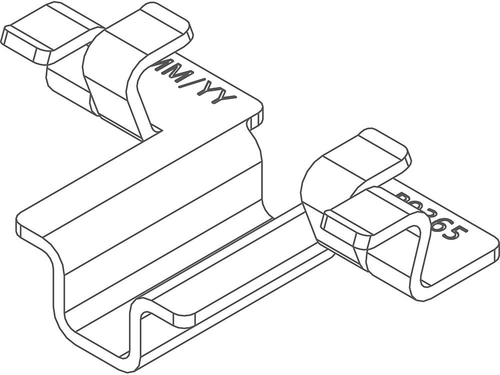 Twinson Montageclip für CHARACTER MASSIVE und MAJESTIC MASSIVE PRO