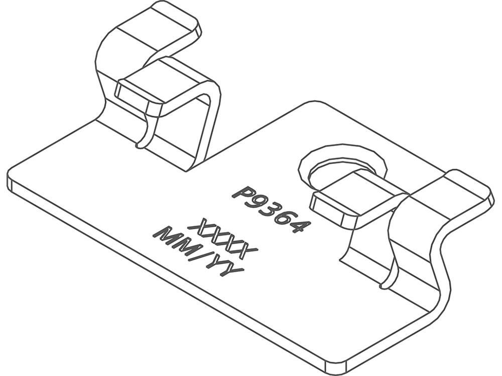Twinson Montageclip für CHARACTER MASSIVE und MAJESTIC MASSIVE PRO für Holz-Trägerprofil