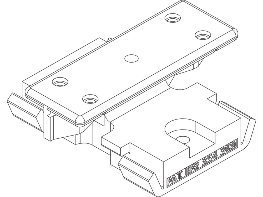 Twinson Montageclip für CHARACTER MASSIVE und MAJESTIC MASSIVE PRO für Alu-Trägerprofile