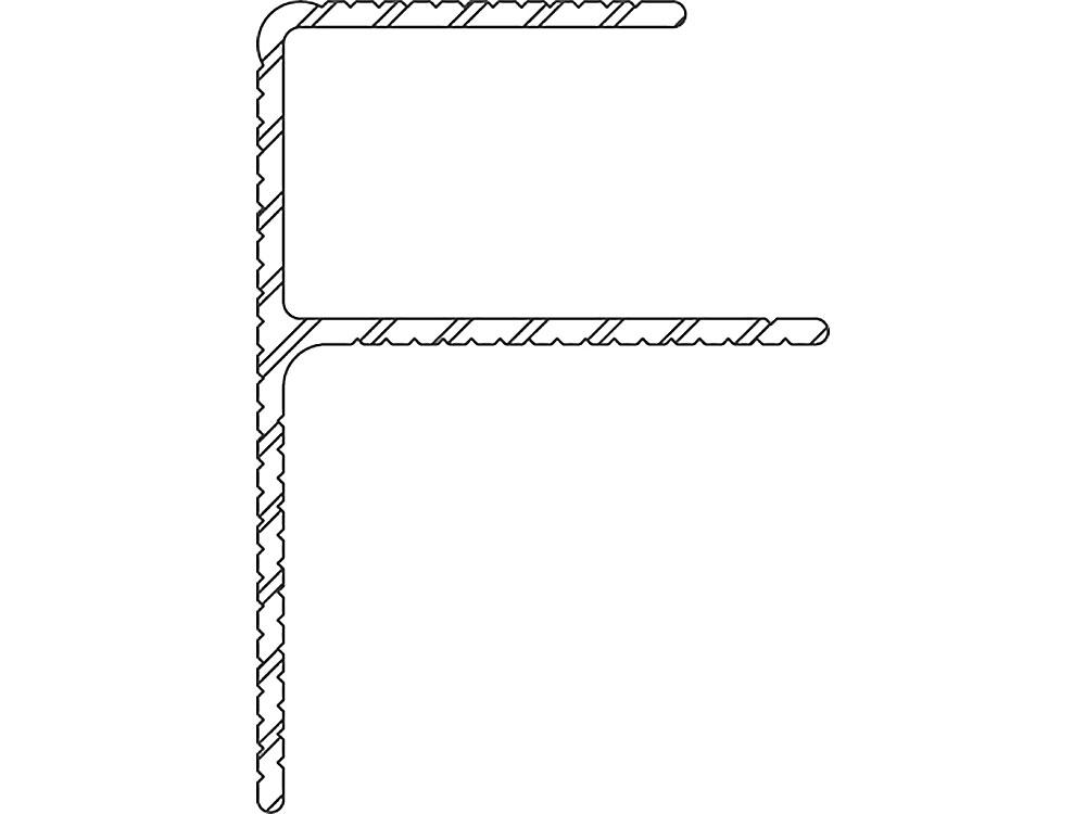 Twinson Alu Rand-/Abschlussprofil, 50 x 42 mm