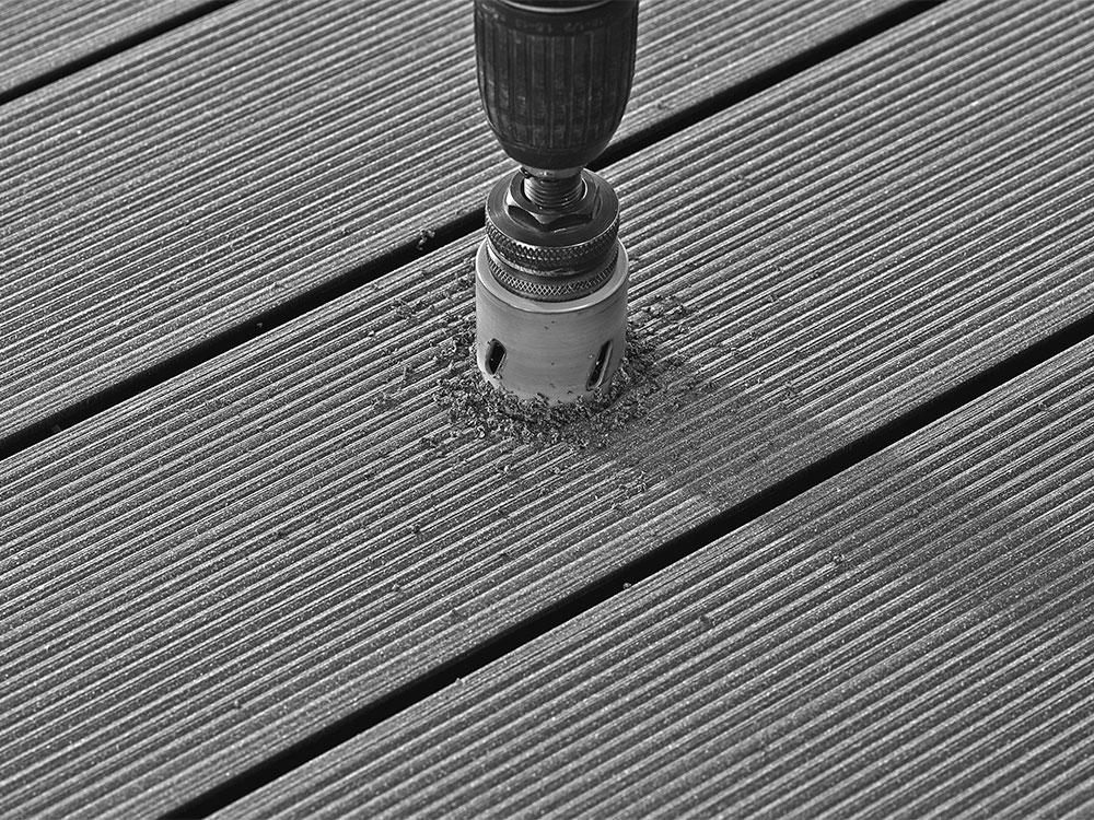 Twinson Bohrkrone für den Einsatz von LED-Lichtern in Terrassen