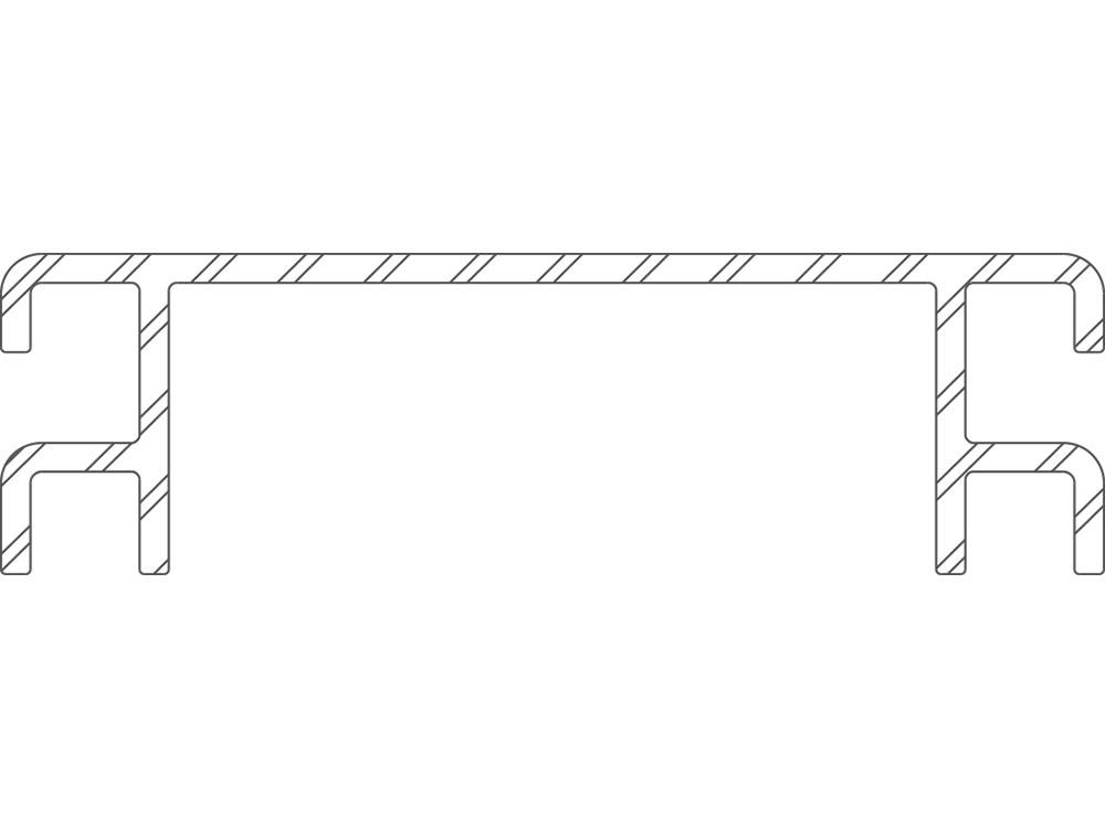 Twinson Ventilationsprofil CHARACTER MASSIVE und MAJESTIC MASSIVE PRO, Silber