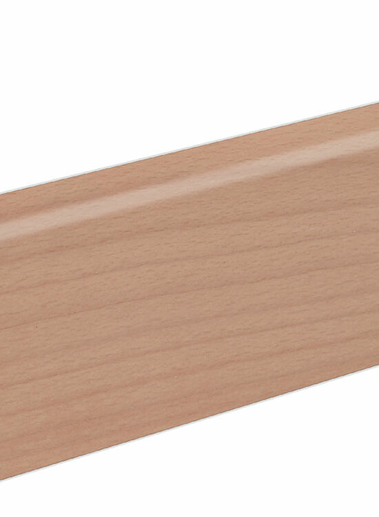 Sockelleiste SU060L FA furniert 19 x 58 mm Buche Ton 0 FRBU071 lackiert, 250 cm