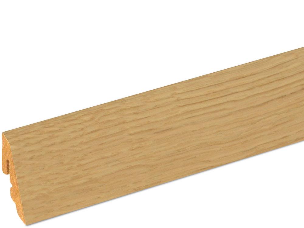 Sockelleiste SU006L FA furniert 18,5 x 38,5 mm Eiche FREI071 lackiert, 250 cm