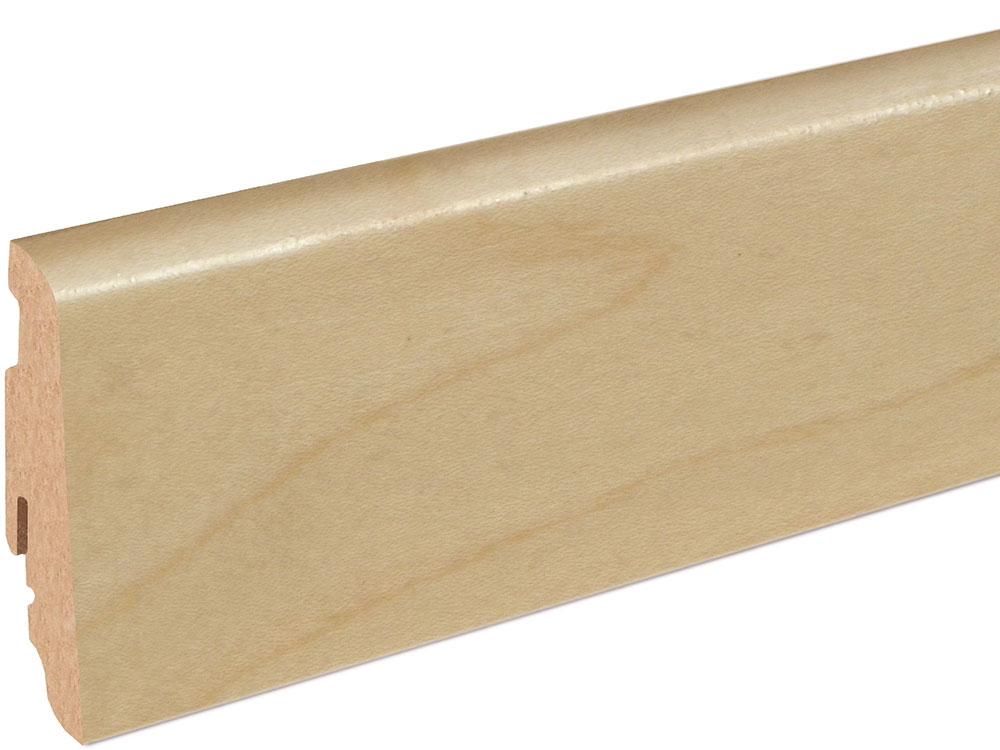 Sockelleiste SU060L FA furniert 19 x 58 mm Ahorn FRAH071 lackiert, 250 cm