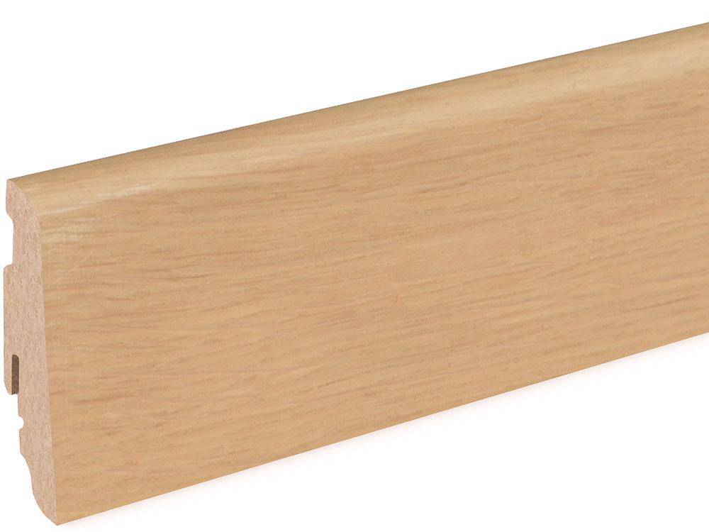 Sockelleiste SU060L FA furniert 19 x 58 mm Eiche FREI071 lackiert, 250 cm