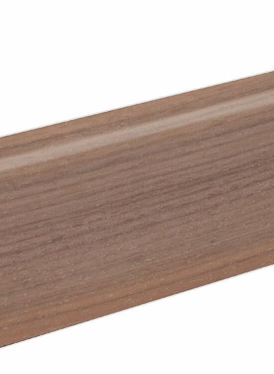 Sockelleiste SU060L FA furniert 19 x 58 mm Nußbaum FRWA071 lackiert, 250 cm