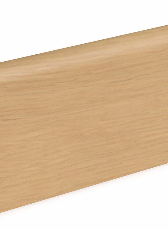 Sockelleiste SU060L MD furniert 19 x 58 mm Eiche FREI071 lackiert, 240 cm