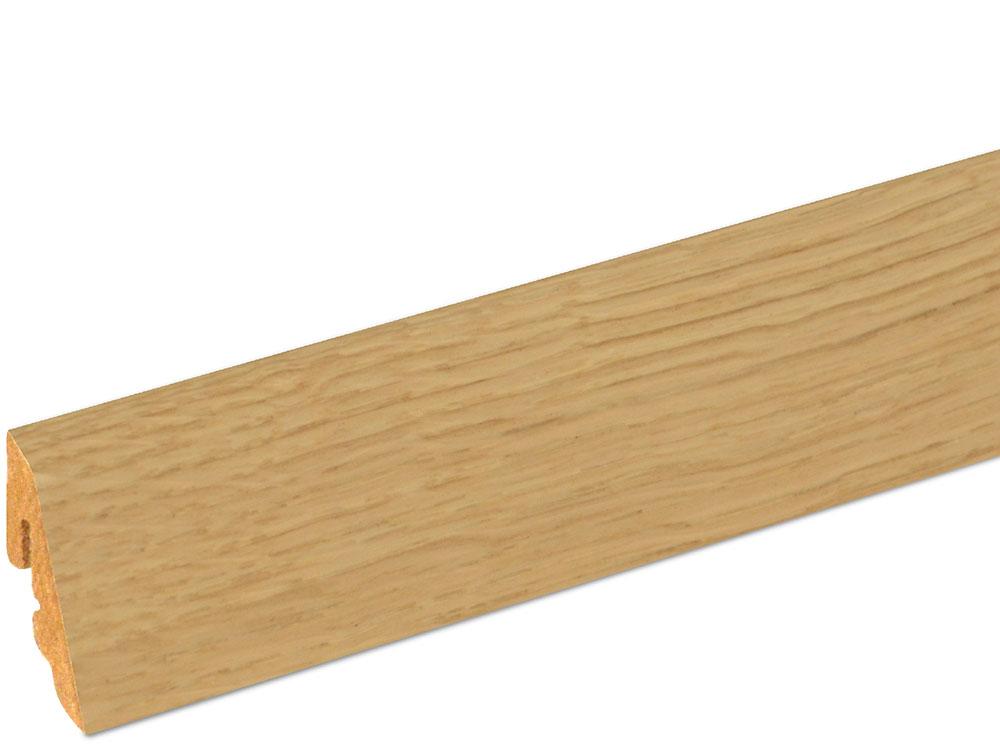 Sockelleiste SU006L MD furniert 18,5 x 38,5 mm Eiche FREI071 lackiert, 240 cm