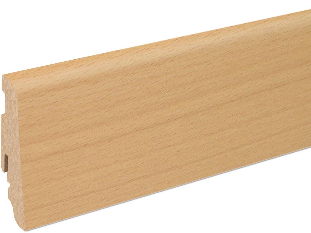 Sockelleiste SU060L MD furniert 19 x 58 mm Buche Ton 0 FRBU071 lackiert, 240 cm