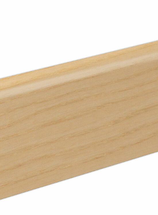 Sockelleiste SU060L MD furniert 19 x 58 mm Esche Braunkern FLES095 lackiert, 240 cm
