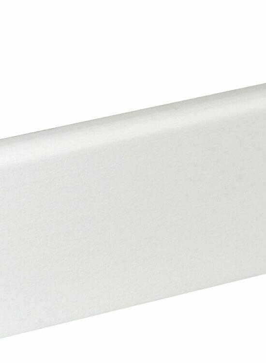 Sockelleiste S0602 9 x 60 mm Buche Weiß lackiert, 240 cm