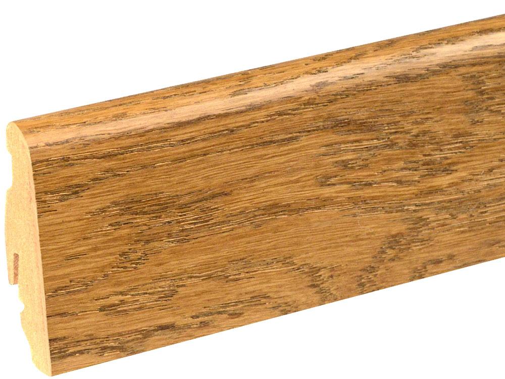 Sockelleiste SU060L MD furniert 19 x 58 mm Eiche dunkel FLEI193 lackiert, 240 cm