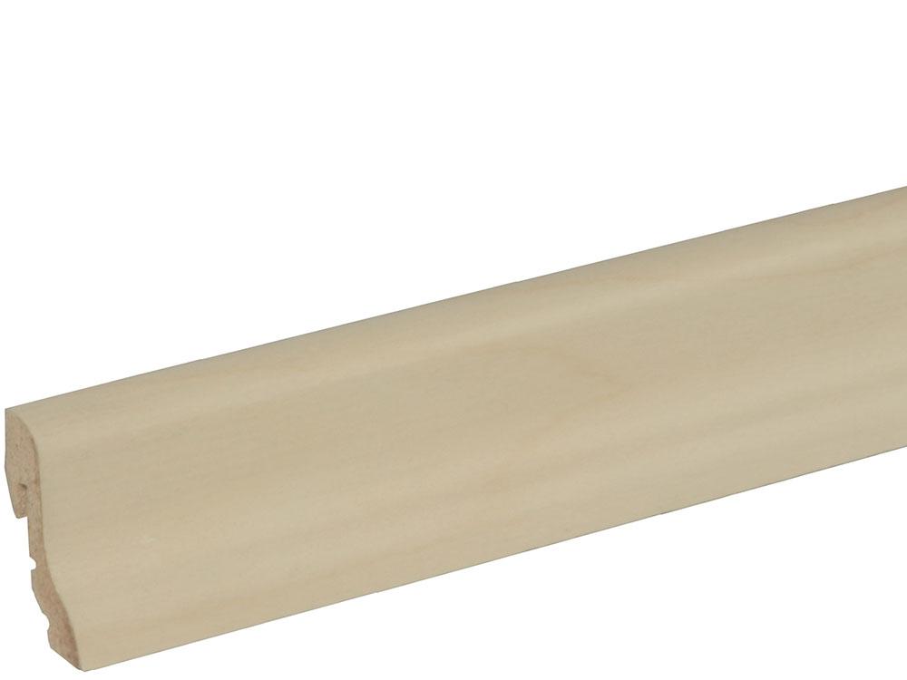Sockelleiste SU018L MD furniert 18,5 x 38,5 mm Birke FRBI071 lackiert, 240 cm