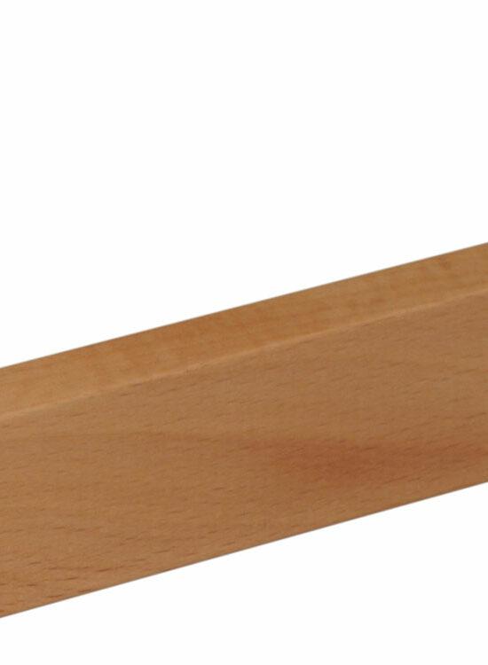 Sockelleiste S0010 9,4 x 33 mm Buche gedämpft, natur lackiert, 240 cm