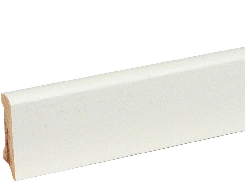 Sockelleiste S0401 Massiv GG 15-20 11,5 x 40 mm Buche weiß deckend RAL 9010 lackiert, 240 cm