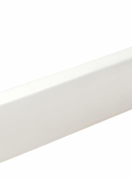 Sockelleiste S0402 Massiv GG 15-20 12 x 40 mm Buche weiß RAL9016 lackiert, 240 cm