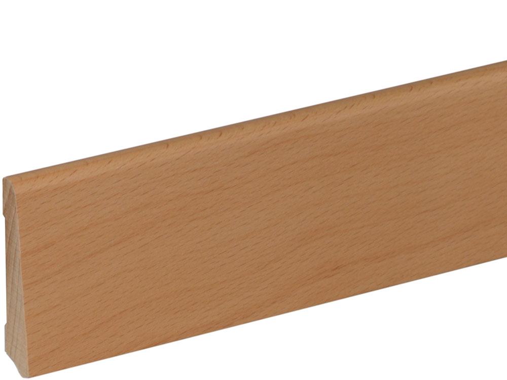 Sockelleiste S0601 Massiv GG 15-20 12 x 60 mm MH Buche gedämpft lackiert, 240 cm