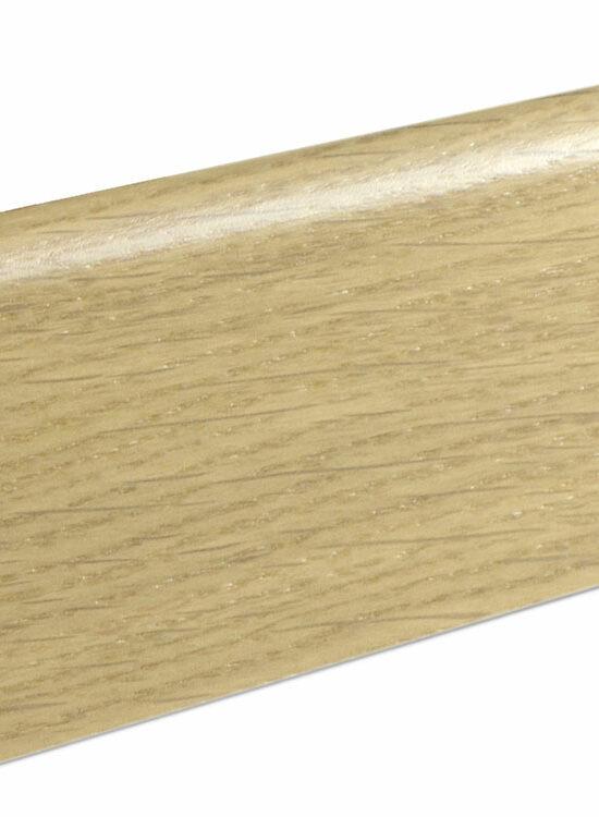 Sockelleiste SU060L MD furniert 19 x 58 mm Eiche weiß FLEI262 lackiert, 240 cm