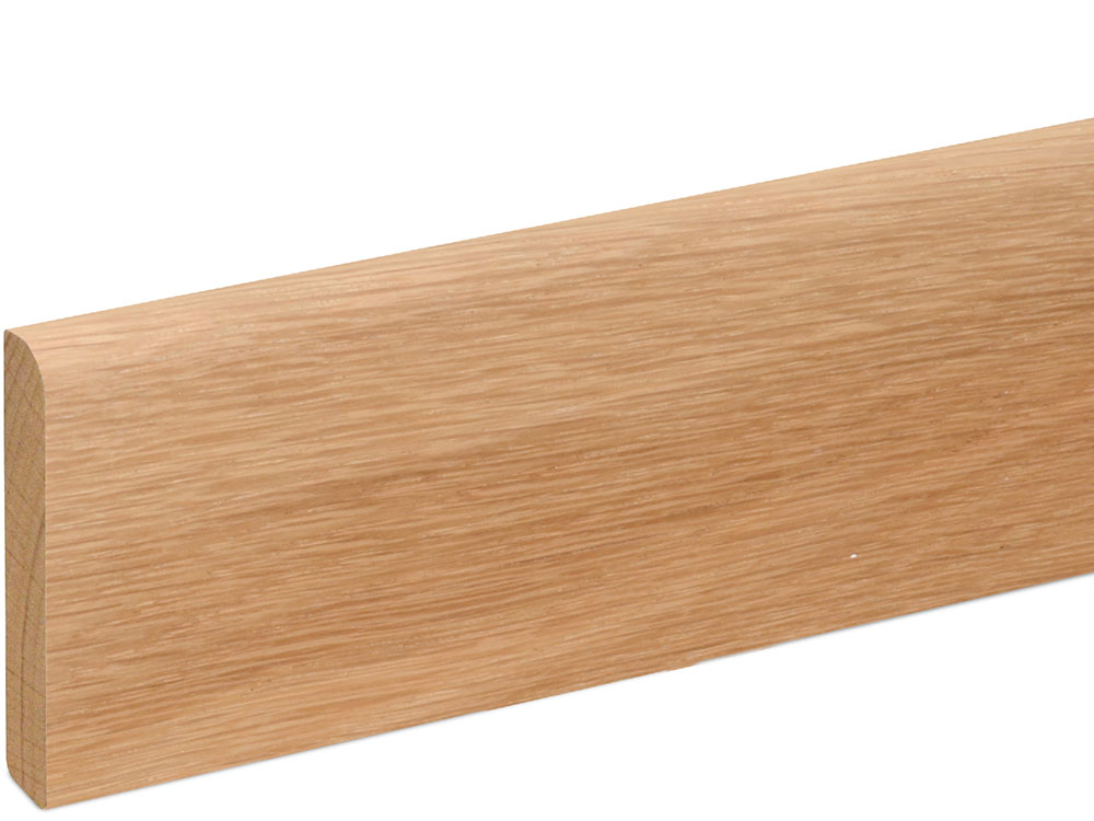 Sockelleiste S0602 9 x 60 mm Eiche natur lackiert, 240 cm