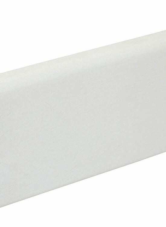 Sockelleiste S0602 9 x 60 mm Abachi weiß lackiert RAL9016, 240 cm