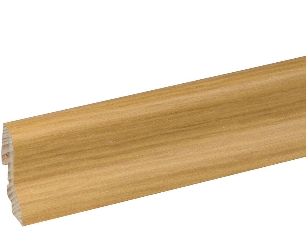 Sockelleiste SU018L FA furniert 18,5 x 38,5 mm Eiche esprit FLEI221 lackiert, 250 cm