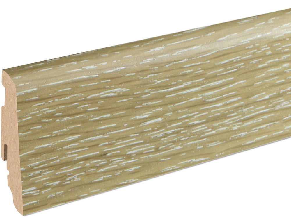 Sockelleiste SU060L MD furniert 19 x 58 mm Eiche limed FGEI043 geölt, 240 cm
