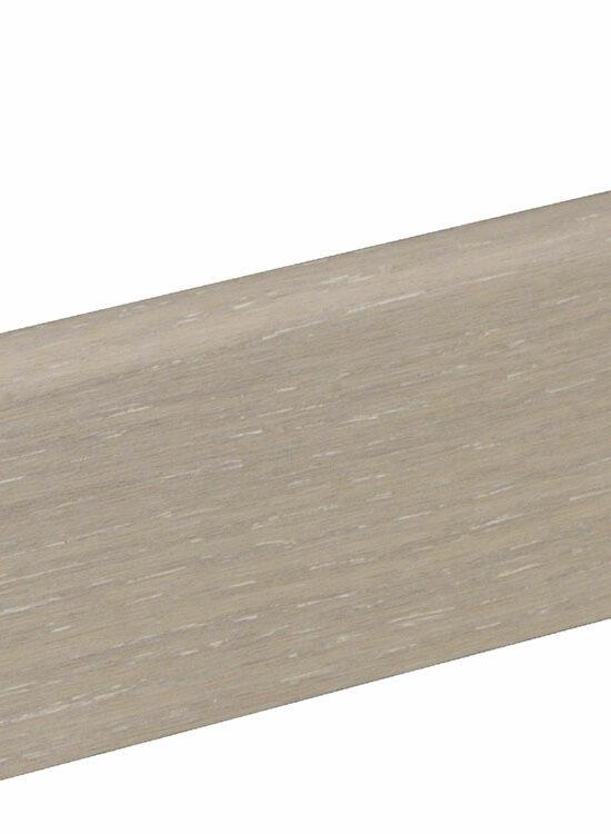 Sockelleiste SU060L MD furniert 19 x 58 mm Eiche weiß FLEI202 lackiert, 240 cm