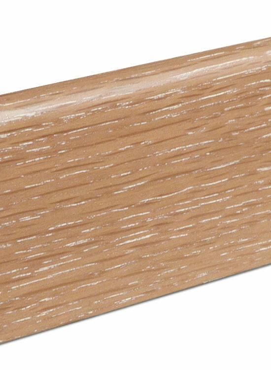 Sockelleiste SU060L MD furniert 19 x 58 mm Eiche sandbraun FLEI265 lackiert, 240 cm