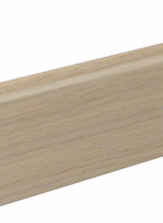 Sockelleiste SU060L MD furniert 19 x 58 mm Eiche weiß FLEI203 lackiert, 240 cm