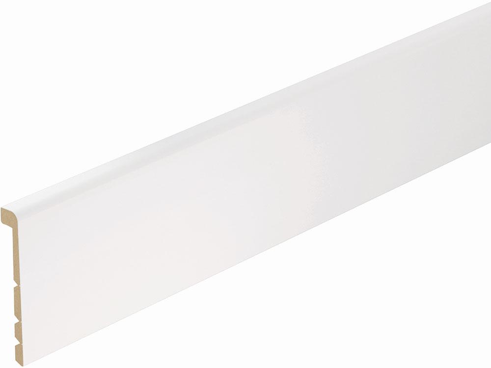 Sockelleiste FU138K foliert 26 x 138 mm Weiß FOFA015, 240 cm