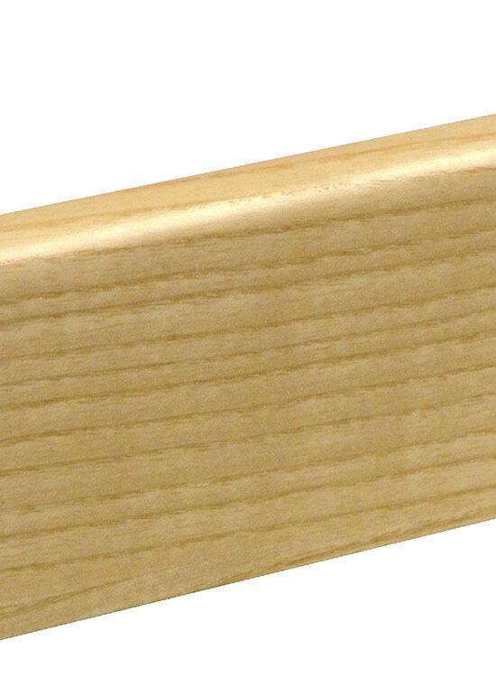 Sockelleiste SU060L MD furniert 19 x 58 mm Esche FLES071 lackiert, 240 cm