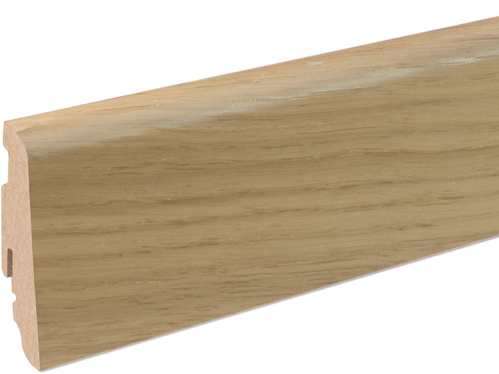 Sockelleiste SU060L MD furniert 19 x 58 mm Eiche limed FLEI162 lackiert, 240 cm